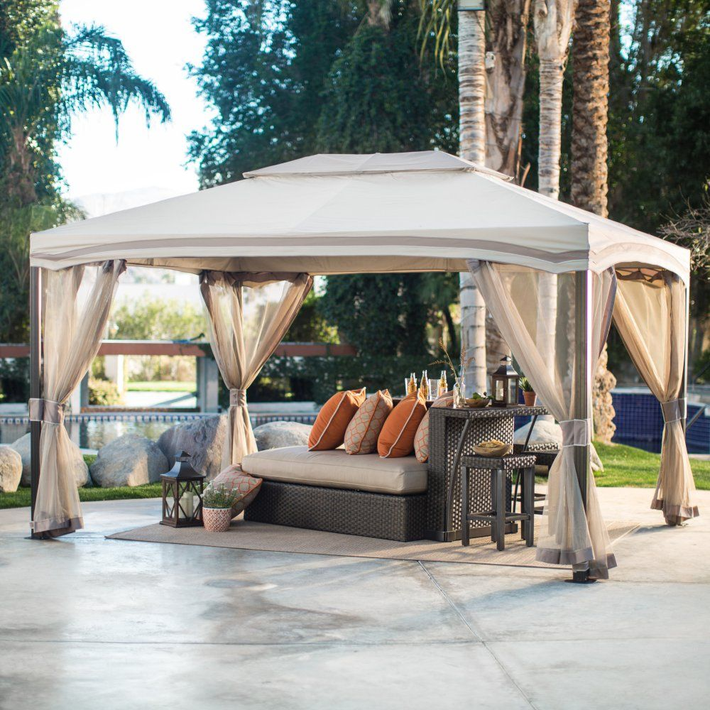 Retractable canopy for pergola - Cabin Style Garden House Canopy Gazebo