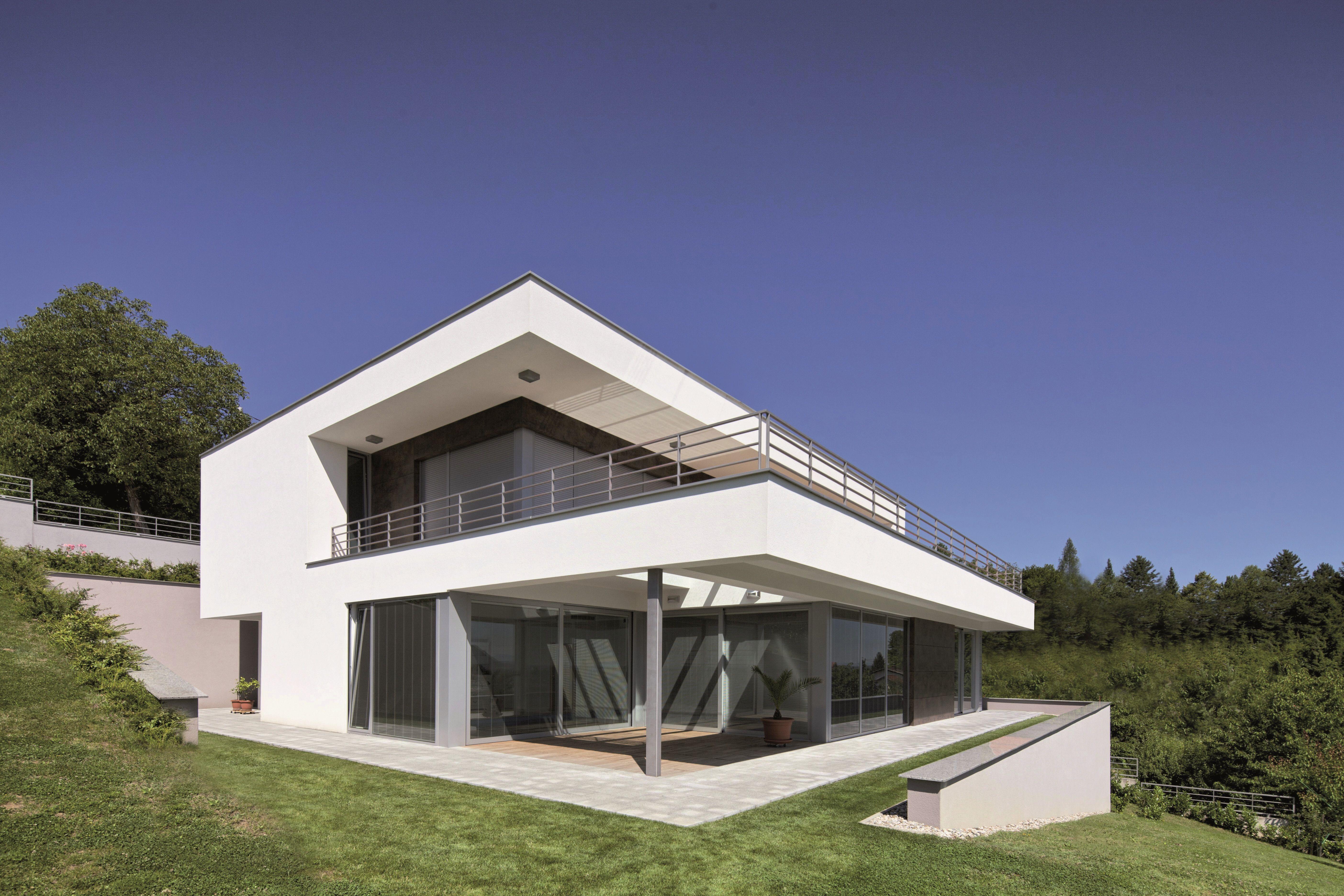 tetto piano , terrazza , vetrate | Esterni | Pinterest | Facade ...