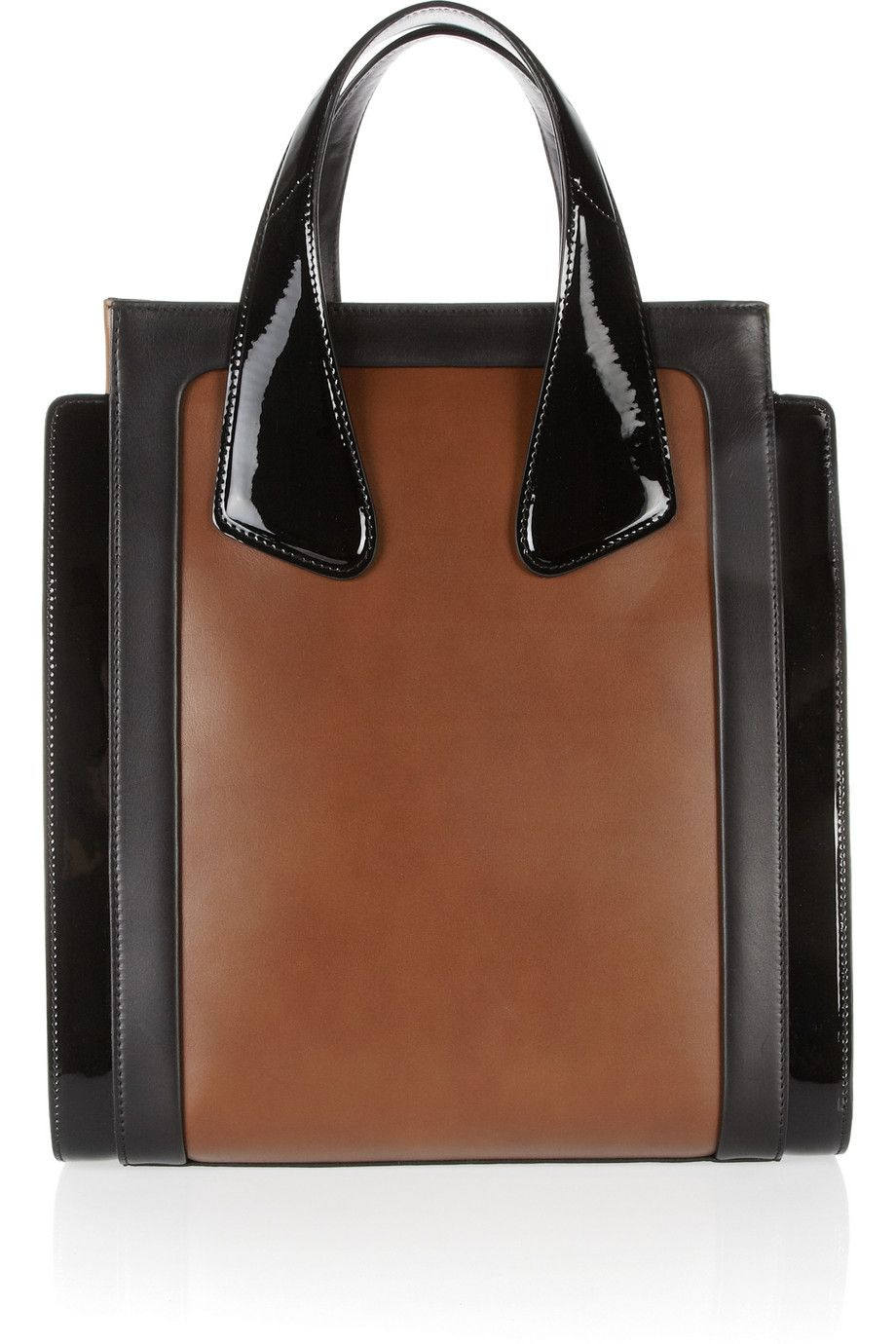 Dyna two-tone leather tote by Bally