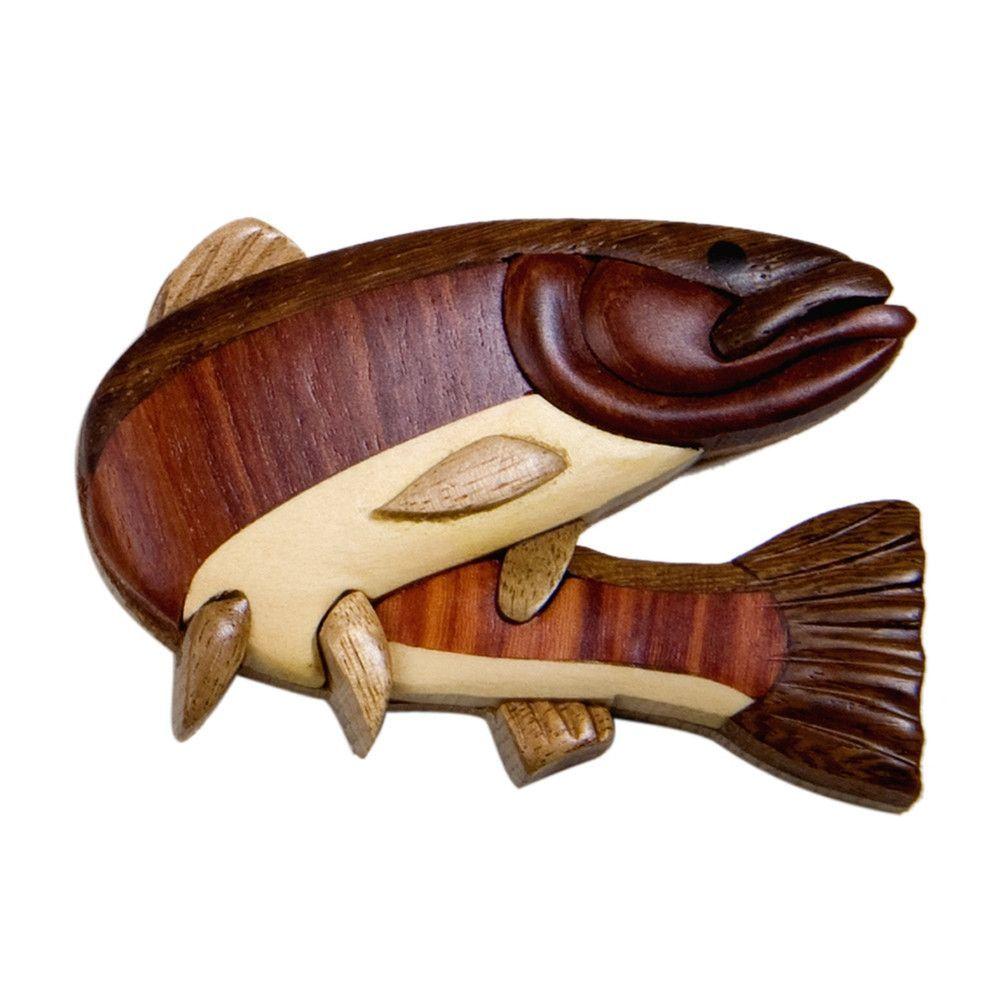 Steelhead Fish Wooden Magnet
