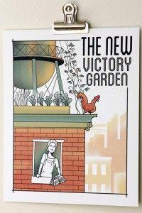 The new victory garden poster- Urban gardening. Designed by Joe ...