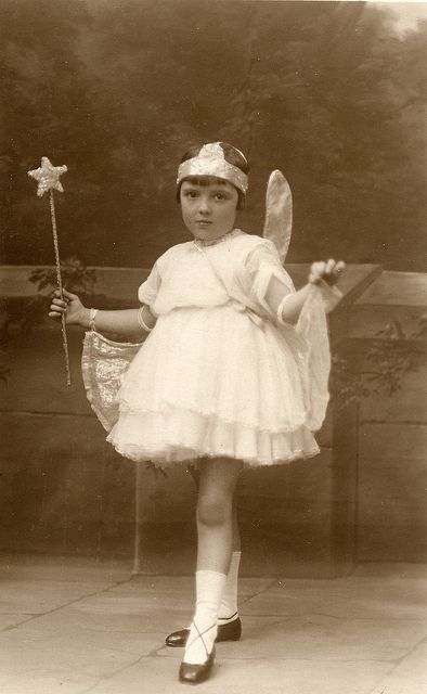 .  1930s vintage fairy Found image. Taken by Dorondo Mills Studios of Birmigham, Liverpool, Waterloo and Blackpool.
