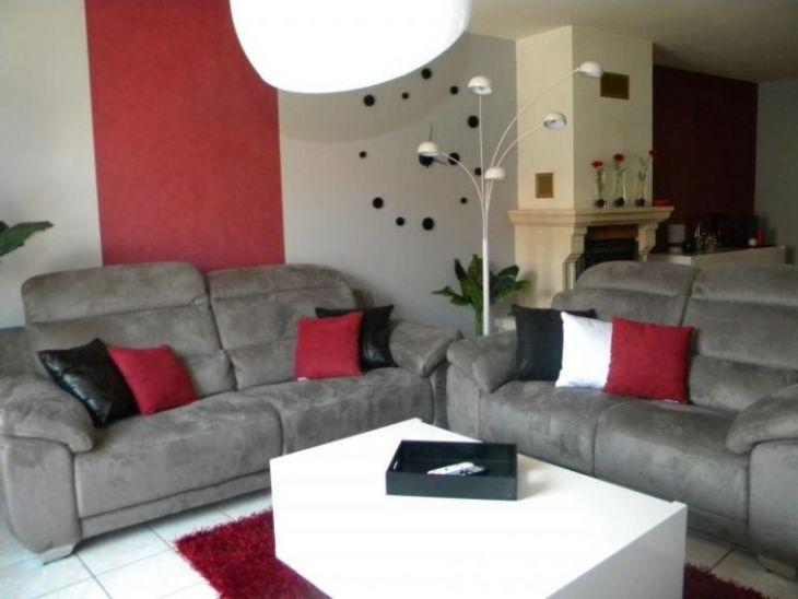 20 Exceptionnel Collection De Salon Gris Et Rouge Curtains Living Room White Living Room Home Decor