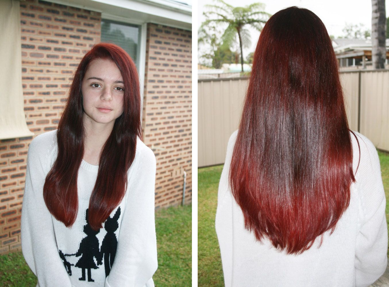 Dying Dark Brown Hair Red | Gorgeous Red Brown Blonde Hair Color ...