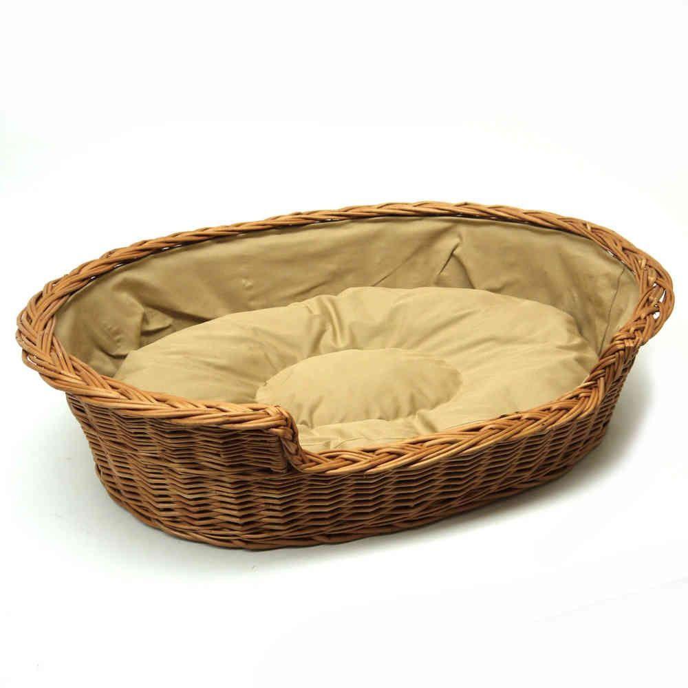 Extra Extra Large Medium Willow Dog Cat Wicker Basket Light Colour Cushion Wicker Dog Bed Basket Dog Bed Dog Cushions