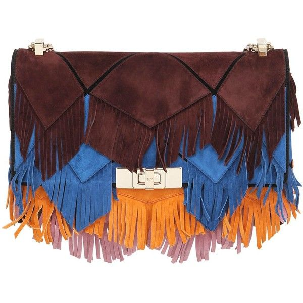 5173608c066e ROGER VIVIER Mini Prismick Fringed Suede Shoulder Bag