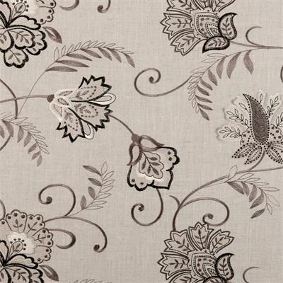 Clarke And Clarke Fabric F0379 02 Bukhara Ebony Clarke