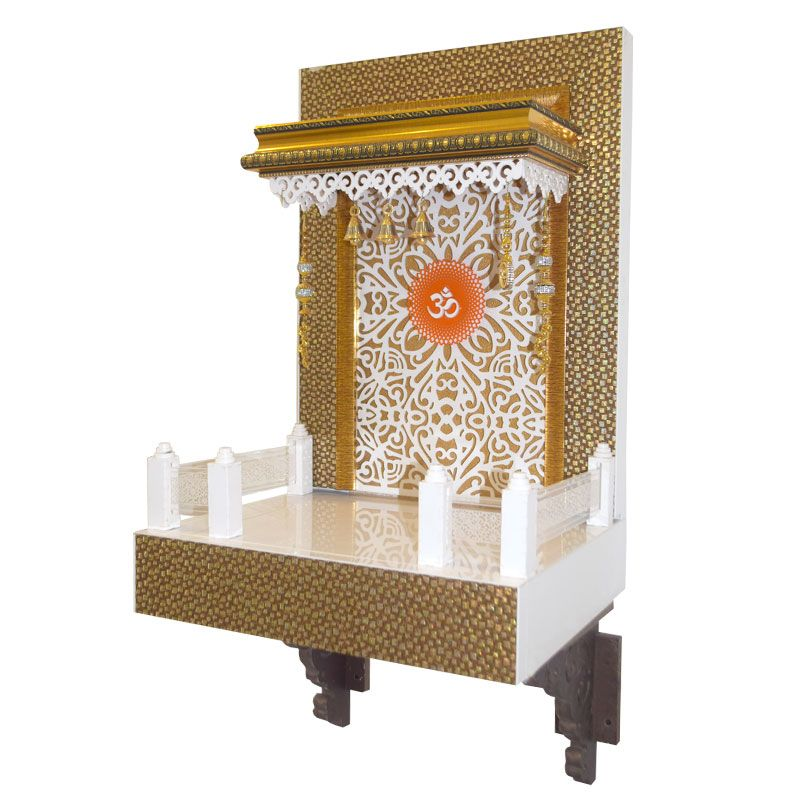 Latest Wooden Mandir 2.5 FT For Home &a... | The world of 7CR ...