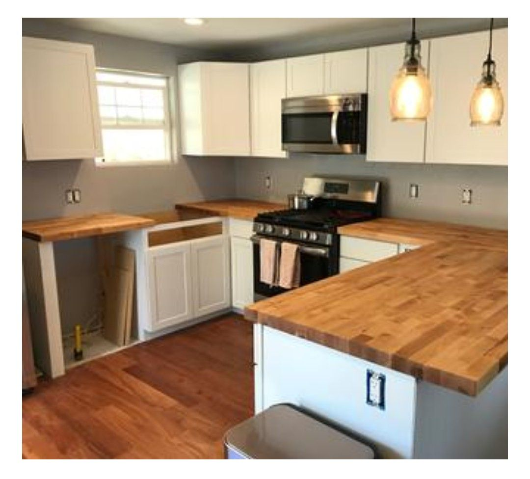 Best White Shaker Style Cabinets With Birch Butcher Block 400 x 300