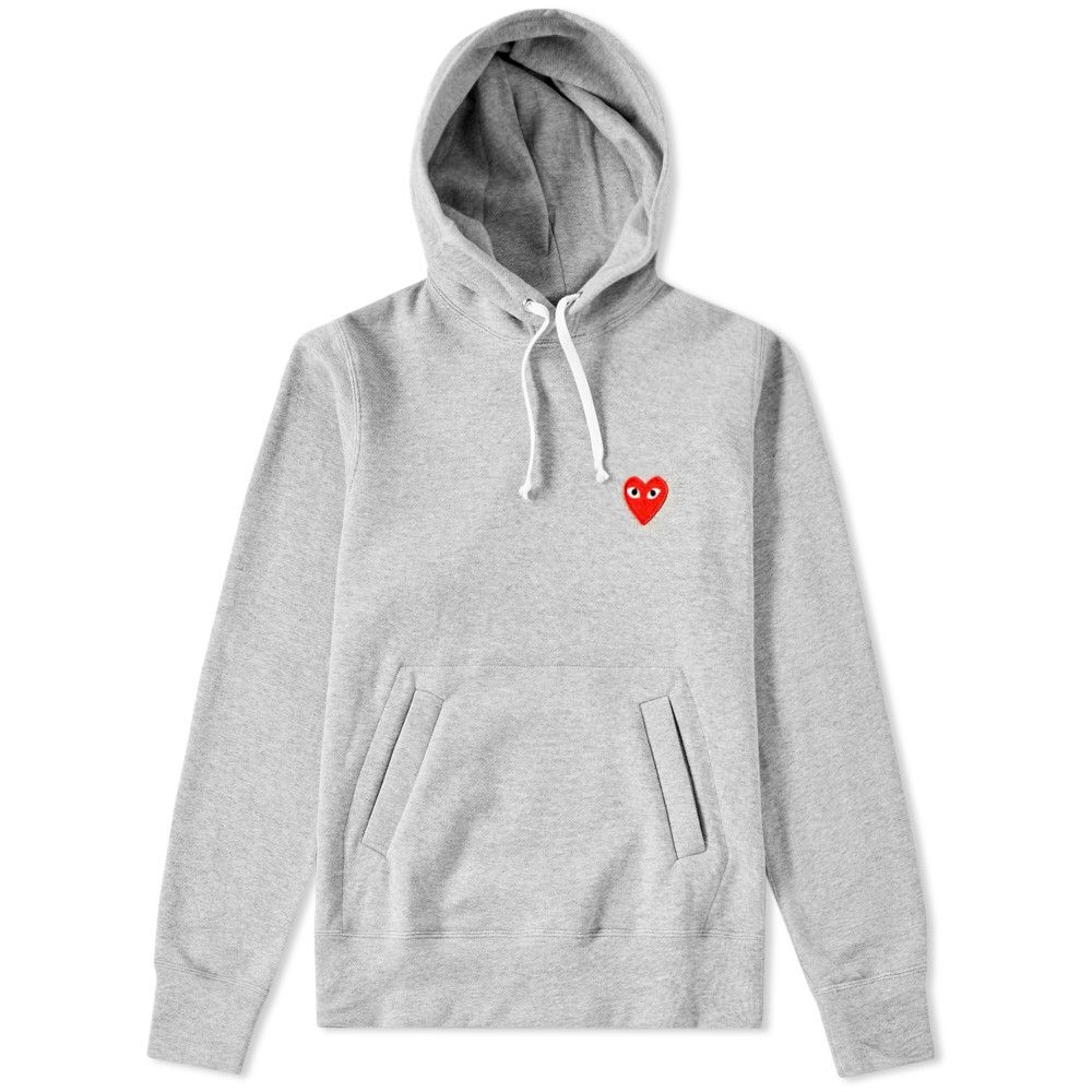 97aa0ae143cba7 Comme des Garcons Play Women s Pullover Hoody (Grey  amp  White) Hoodies