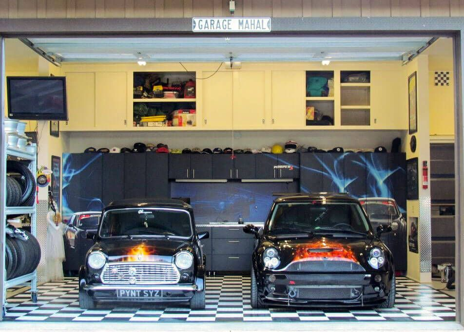 Photo Gallery Cool garages, Garage floor