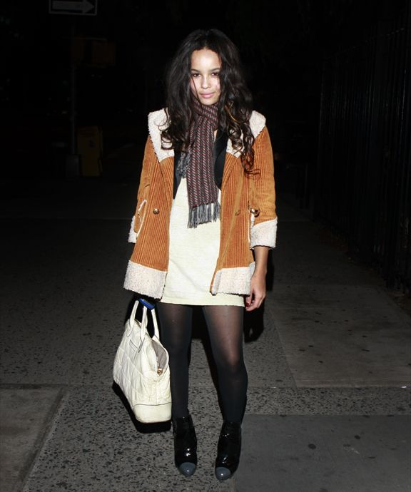 Zoe Kravitz Fashion: Messy. But Still A Pulled Together Look