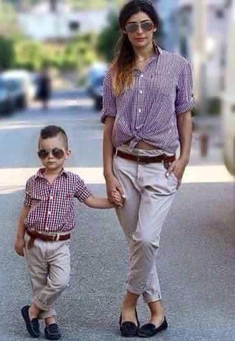 704c6119f810 Outfit mamá e hijo | Mama y Varón! | Ropa mama e hijo, Fotos madre y ...