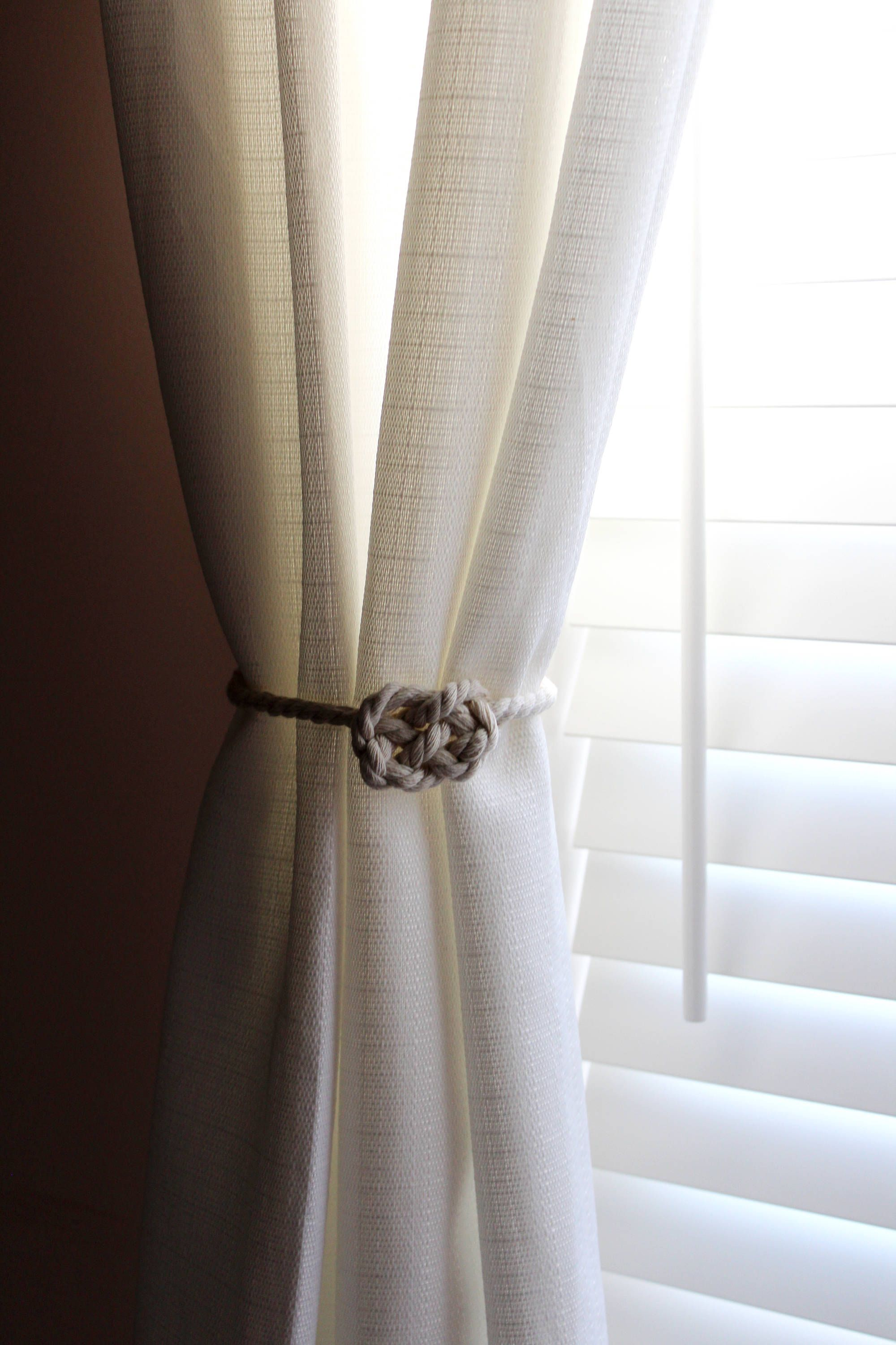 Rustic And Nautical Natural Cotton Thread Curtain Tie Back By Alisaartstudio On Etsy