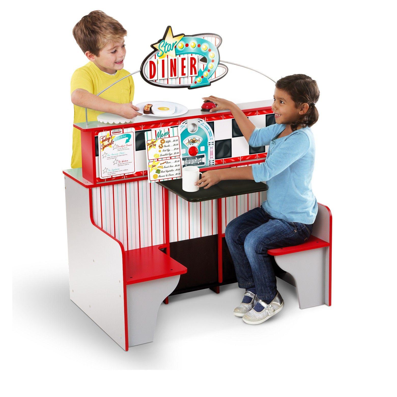 Barbie deluxe furniture stovetop to tabletop kitchen doll target - Melissa Doug Deluxe Star Diner Restaurant