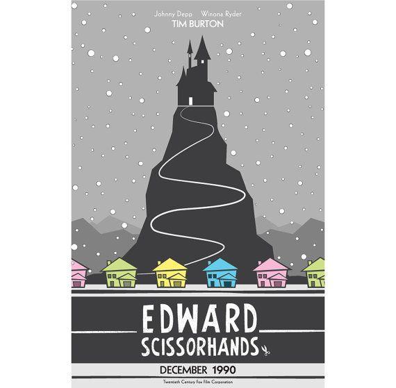 Edward Scissorhands Tim Burton Minimalist Poster Series By
