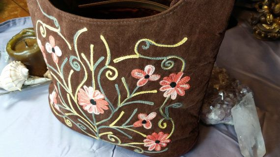 Beautiful Stitched Cross Body Bag Made in by TibetanJewelryStore