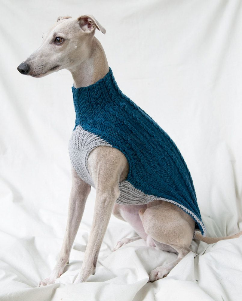Whippet sweater whip it good whippets pinterest whippet cable pattern whippet sweater jumper blue gray by goodwitknit bankloansurffo Images