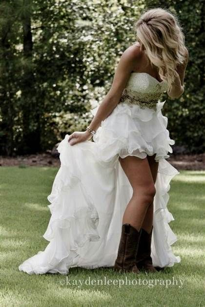 43fe7975b7 Awesome high low wedding dresses with cowboy boots