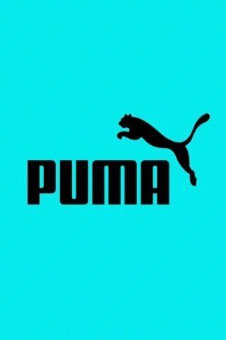 puma name and symbol on aqua background sports wallpapers puma apple wallpaper puma name and symbol on aqua background