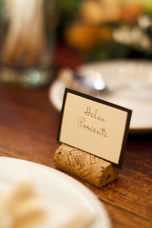 Bonterra Trattoria Wedding By Firefly Occasions Place Card Holders Wine Cork Place Card Holder Table Arrangements Wedding