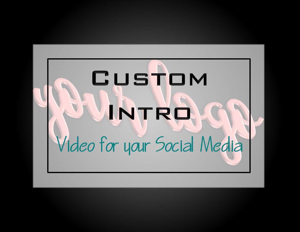 Custom Intro, Youtube Intro, Intro, Youtube, Facebook Ads