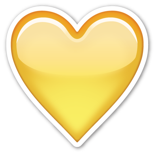 Yellow Heart | Emojis, Emoji and Emoji stickers Yellow Heart Emoji