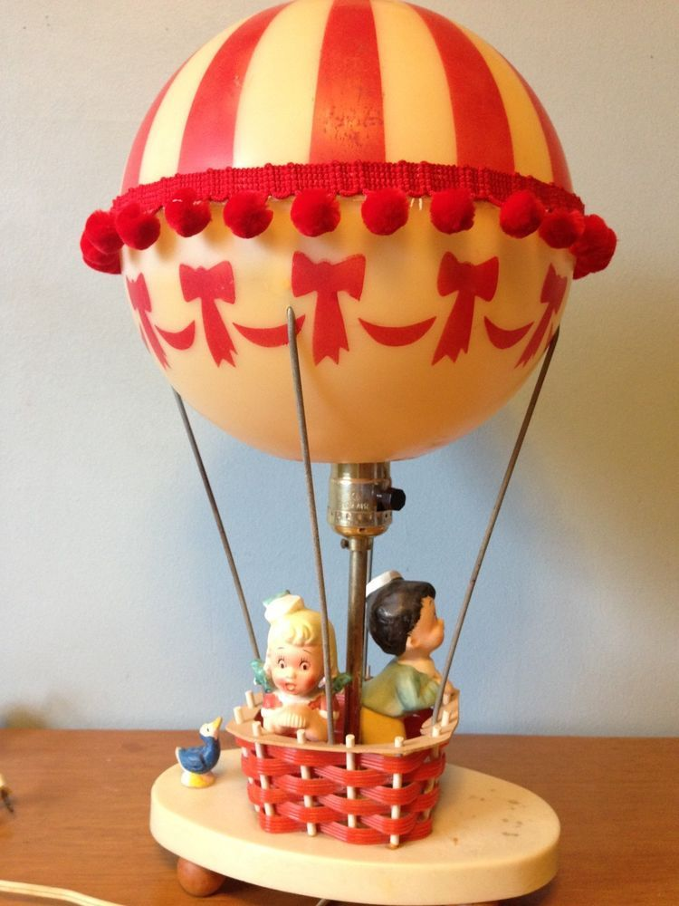 1960s Novelty Lighting Lamp : Vintage 1969 Dolly Toy Company Hot Air Balloon~Nursery~Child~Lamp & Night Light Novelty lamps ...