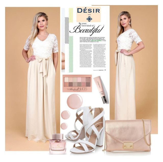 """""""DesirVale 2."""" by selmir ❤ liked on Polyvore featuring Miss KG, Loeffler Randall, WALL, Burberry, Topshop, Maybelline, StreetStyle, chic, dress and plus size dresses"""
