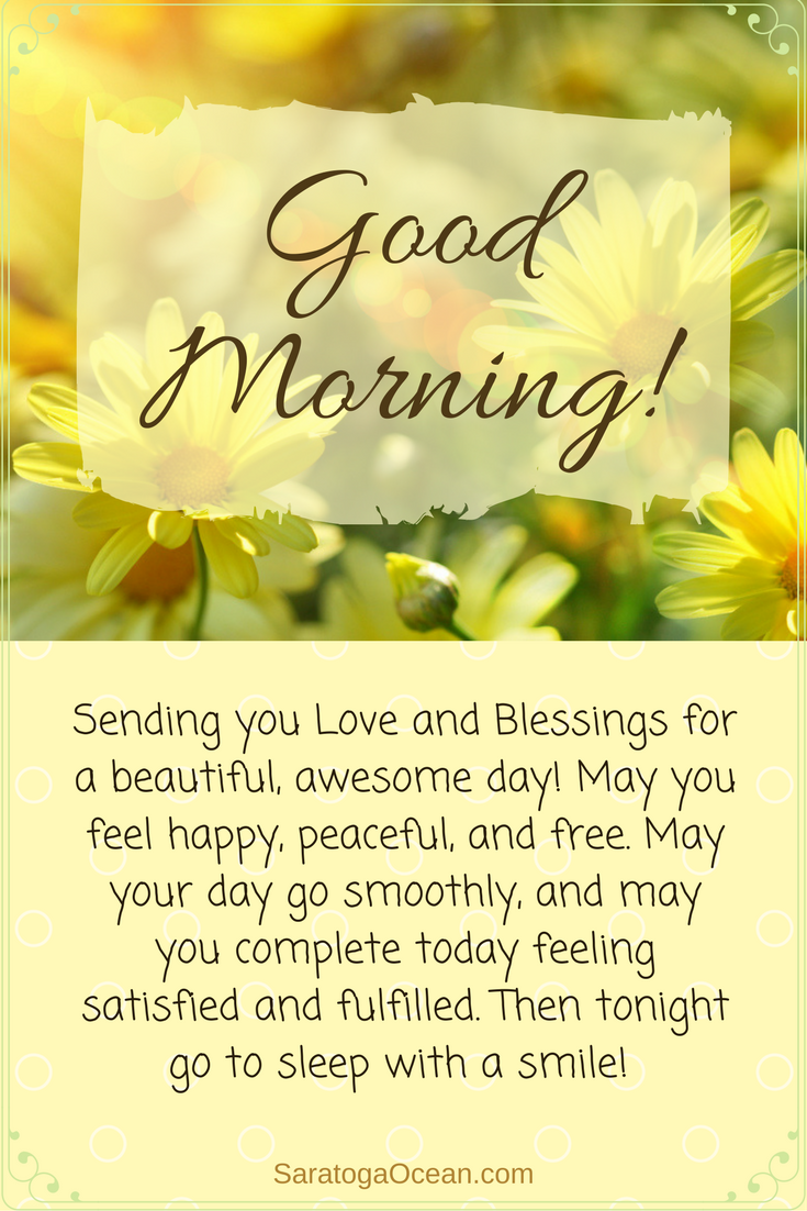 Quotes On Morning Wishes: I'm Sending You Blessings And Wishes For An Awesome Day