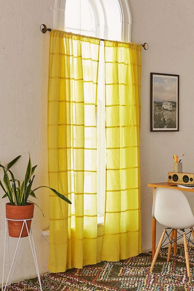 Merveilleux Bright Yellow | Bedroom Curtain Ideas: 15 Ways To Decorate With Curtains