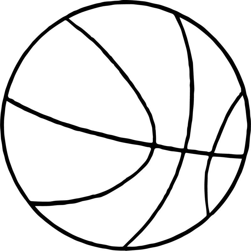 Thin Basketball Ball Coloring Page Di 2020