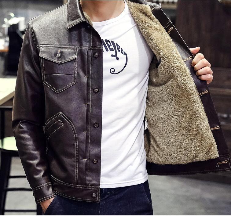 Mens faux leather jacket 3xl