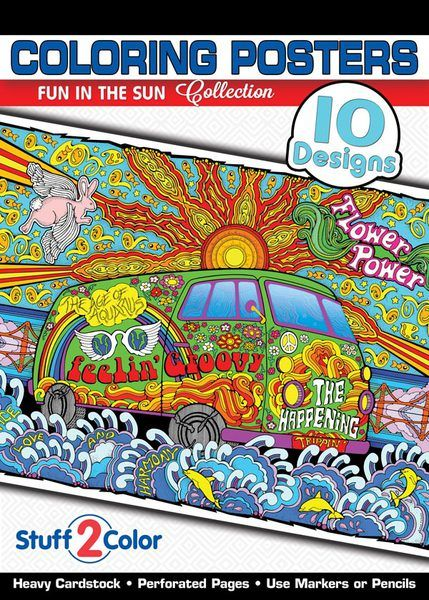 Fun in the Sun - Coloring Book | Color posters and Coloring books