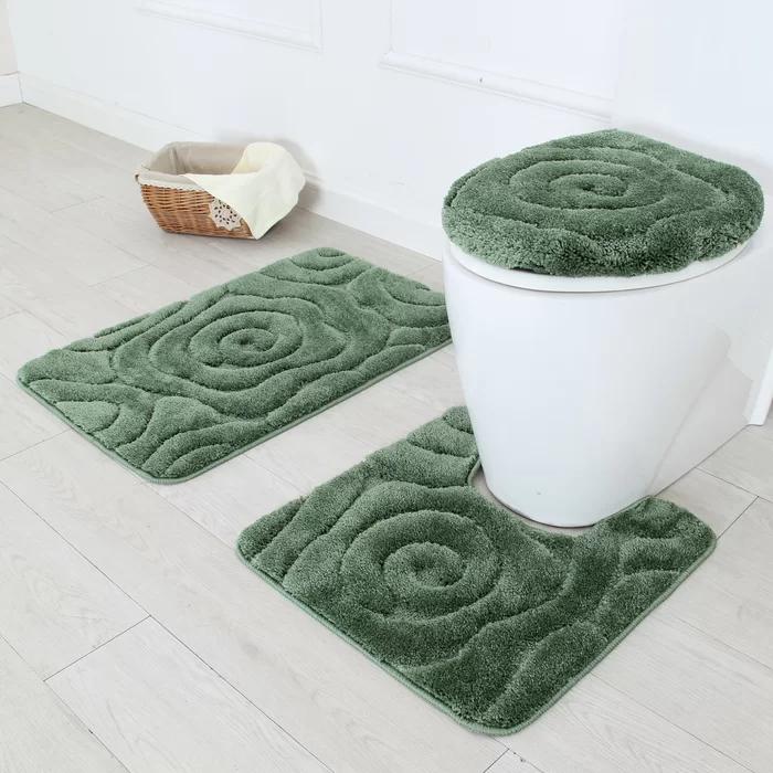Hardee 3 Piece Bath Rug Set In 2019 Bathroom Rug Sets Bath