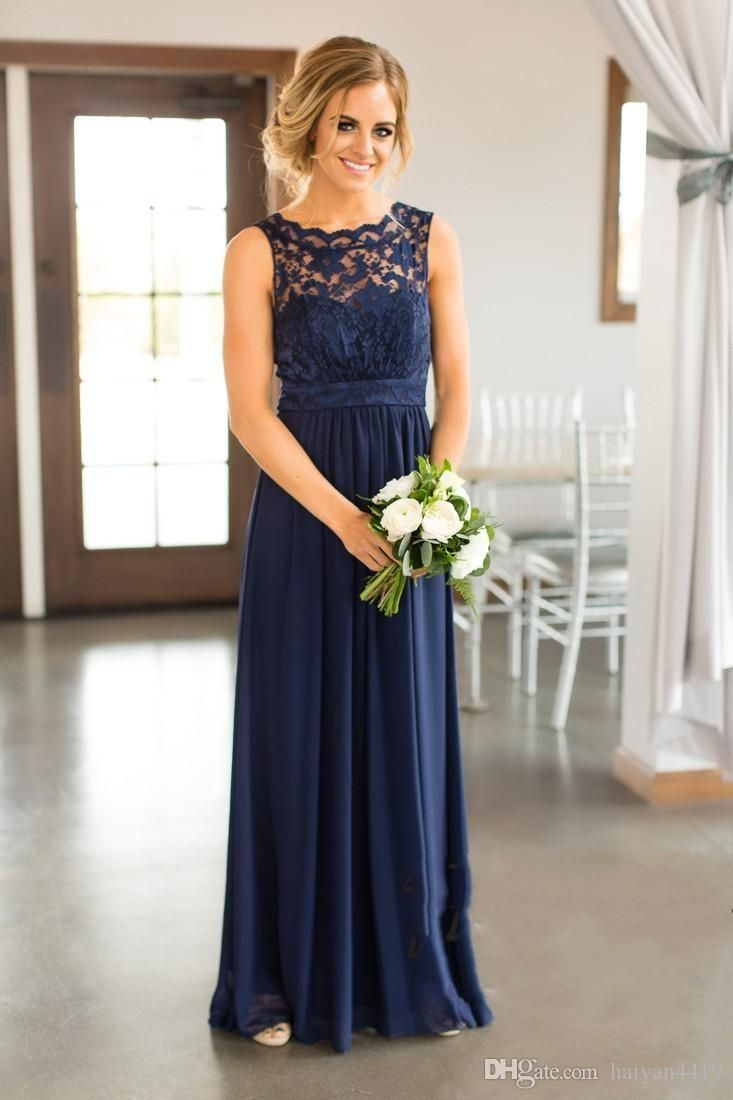 Bridesmaid dresses new cheap country for weddings navy blue