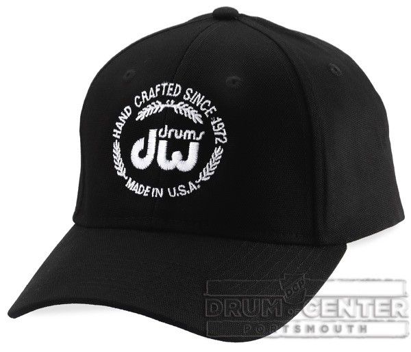 Dw Black Unstructured Hat Velcro Closure With Logo Hats Wearable Baseball Cap