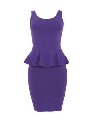 Purple Peplum Dress (I OWN ONE!!)