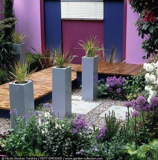 Modern Landscape Plan Style Plants Courtyard Design: The French Aesthetic Meets A Modern Sensibility. The Gray