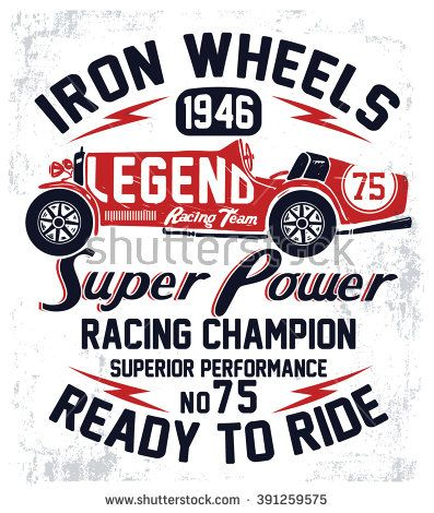 Vintage Superior Car Racer Men/'s Tee Image by Shutterstock