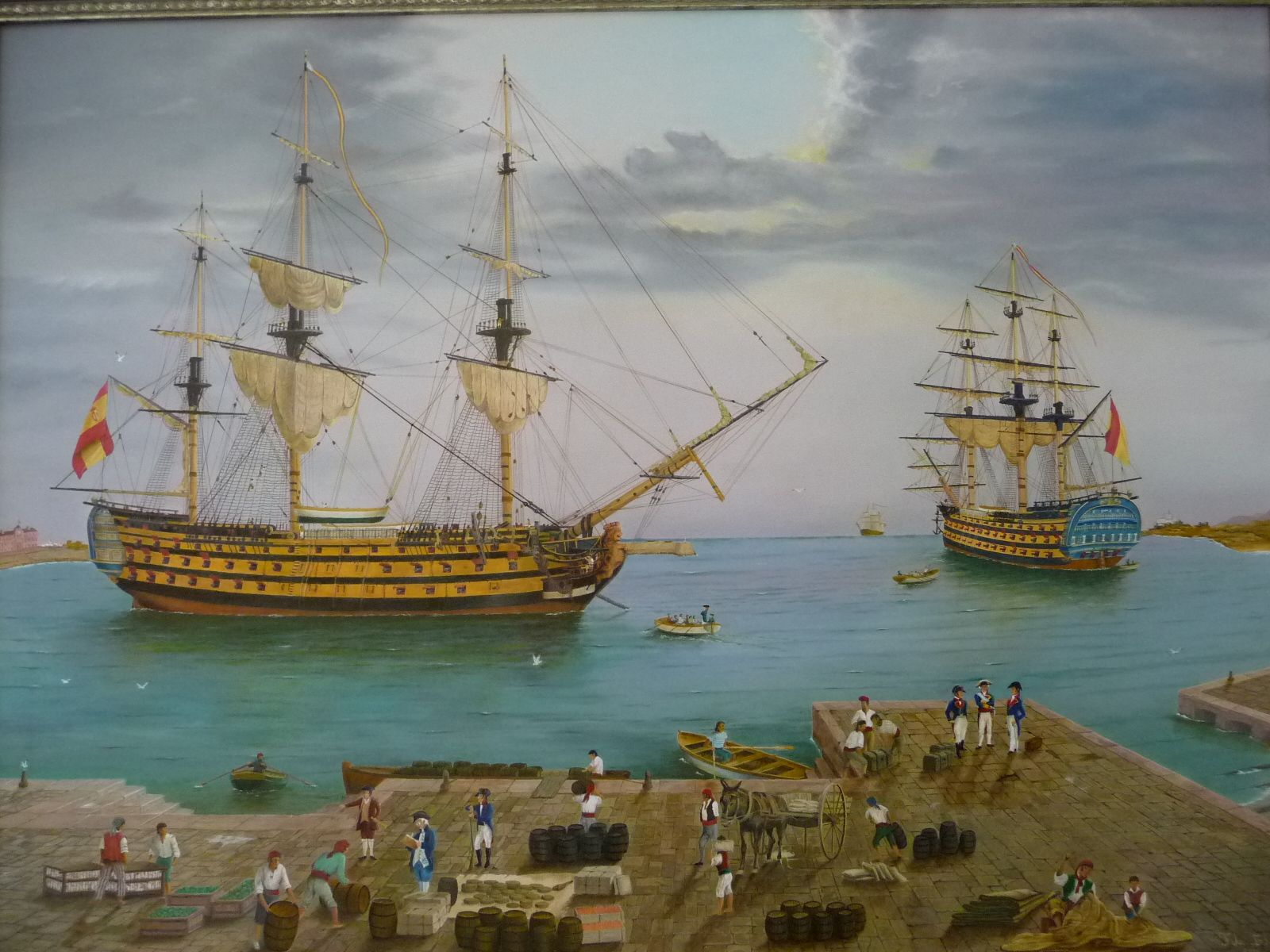 El Santa Ana y el Príncipe de Asturias aprovisionándose en Octubre de 1805