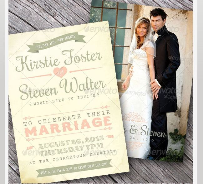 45 Beautiful Wedding Invitation PSD Templates Photoshop And