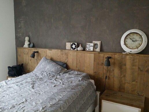 Bedroom DIY wooden headboard