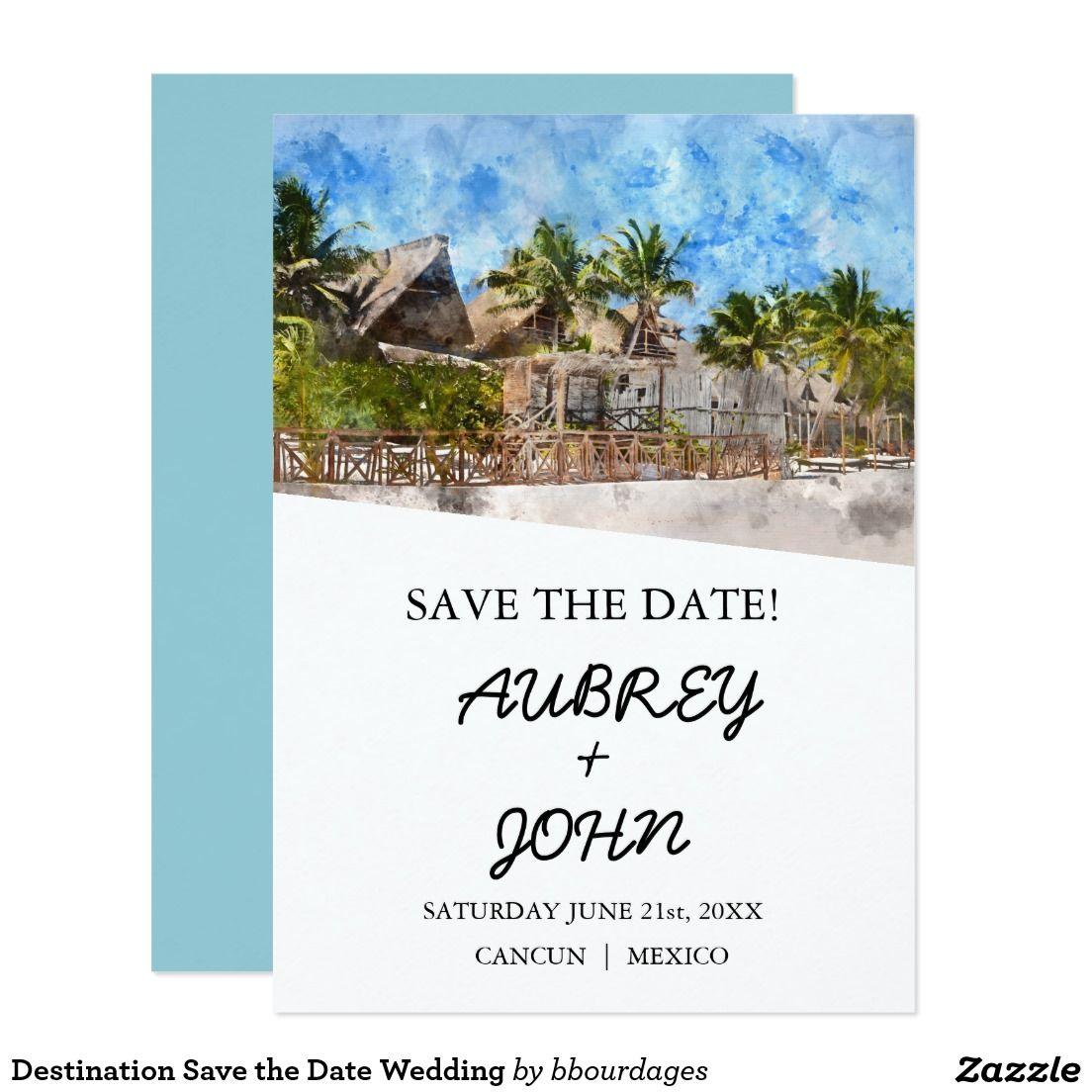 Destination Save the Date Wedding Beach