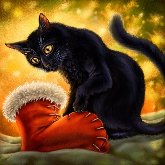 """Christmas Cat"" by Anne Wertheim"