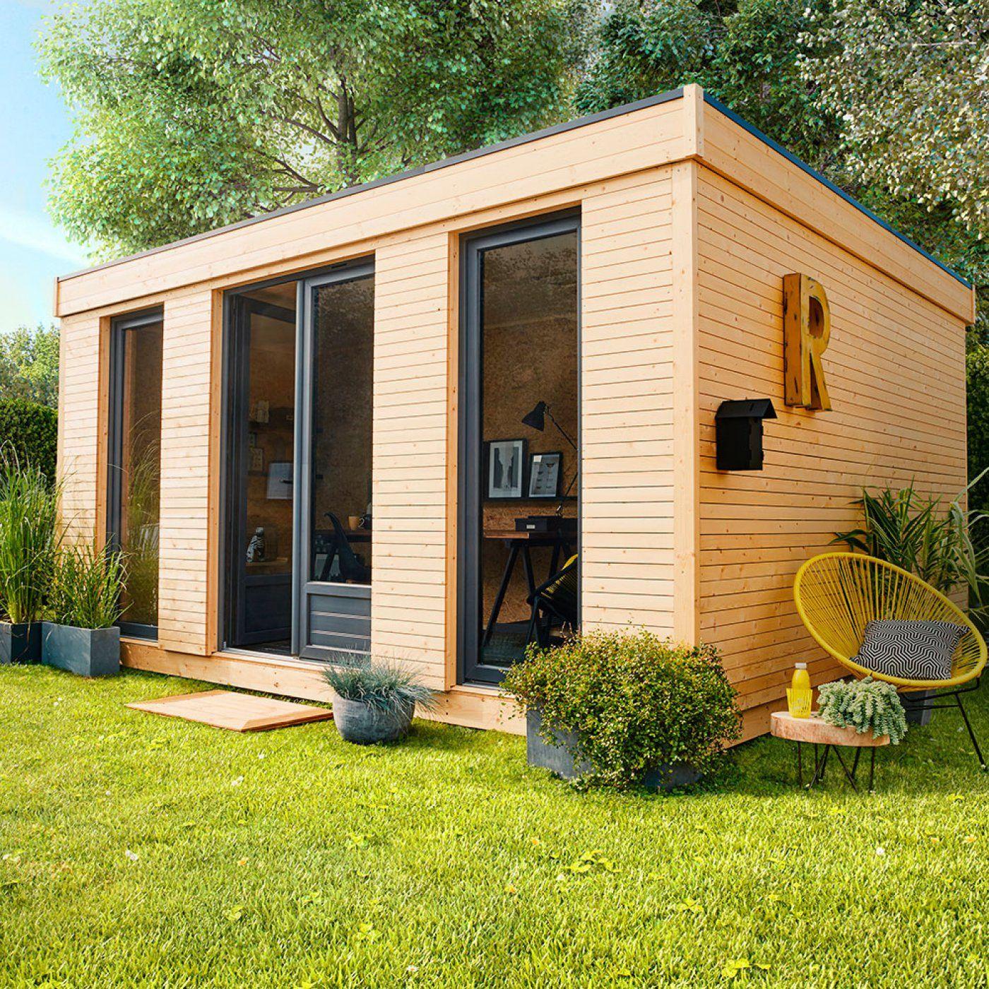 Abri de jardin bois Decor home, 15.25 m² Ep.90 mm | Leroy Merlin ...