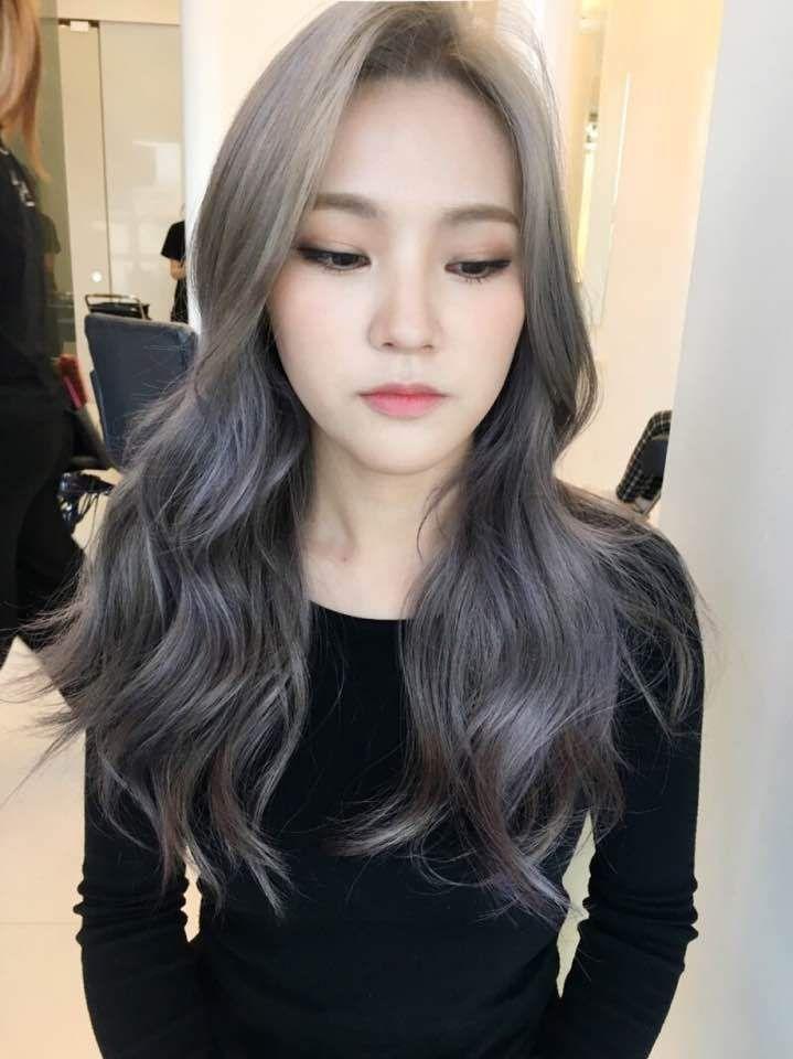 Korea Korean Kpop Idol Actress 2017 Hair Color Trend For Winter Fall Lavender Ash Brown Hairstyles For Girls Kp Hair Color Asian Kpop Hair Color Ash Hair Color
