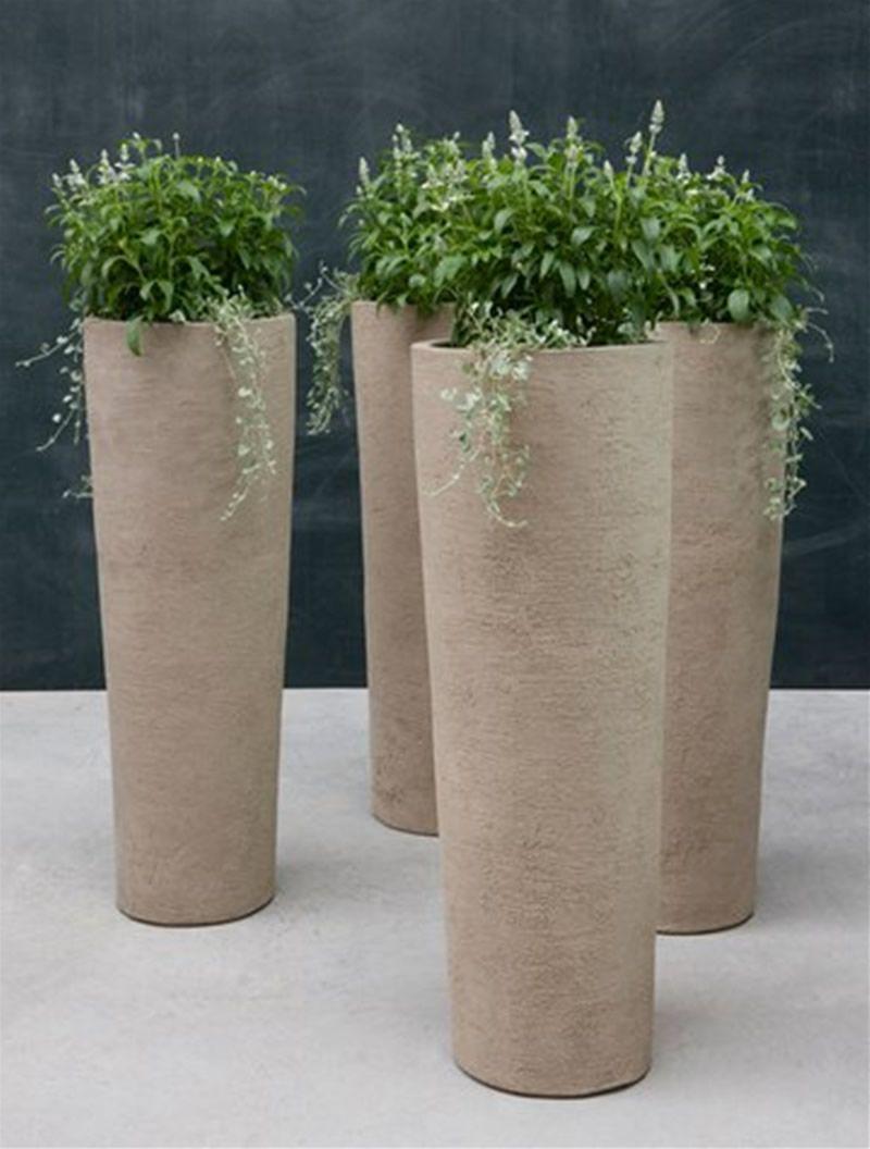 Amazing ceramic planter design to make perfect fresh ornamental plants simple tube ceramic planter design fresh small ornamental plants