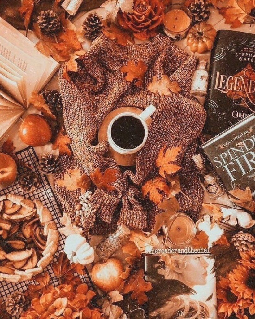 on Instagram     73 days until Halloween        PC   thereaderandthechef      tags  #halloween #fall #fallaesthetic #autumn #photography #books #coffee