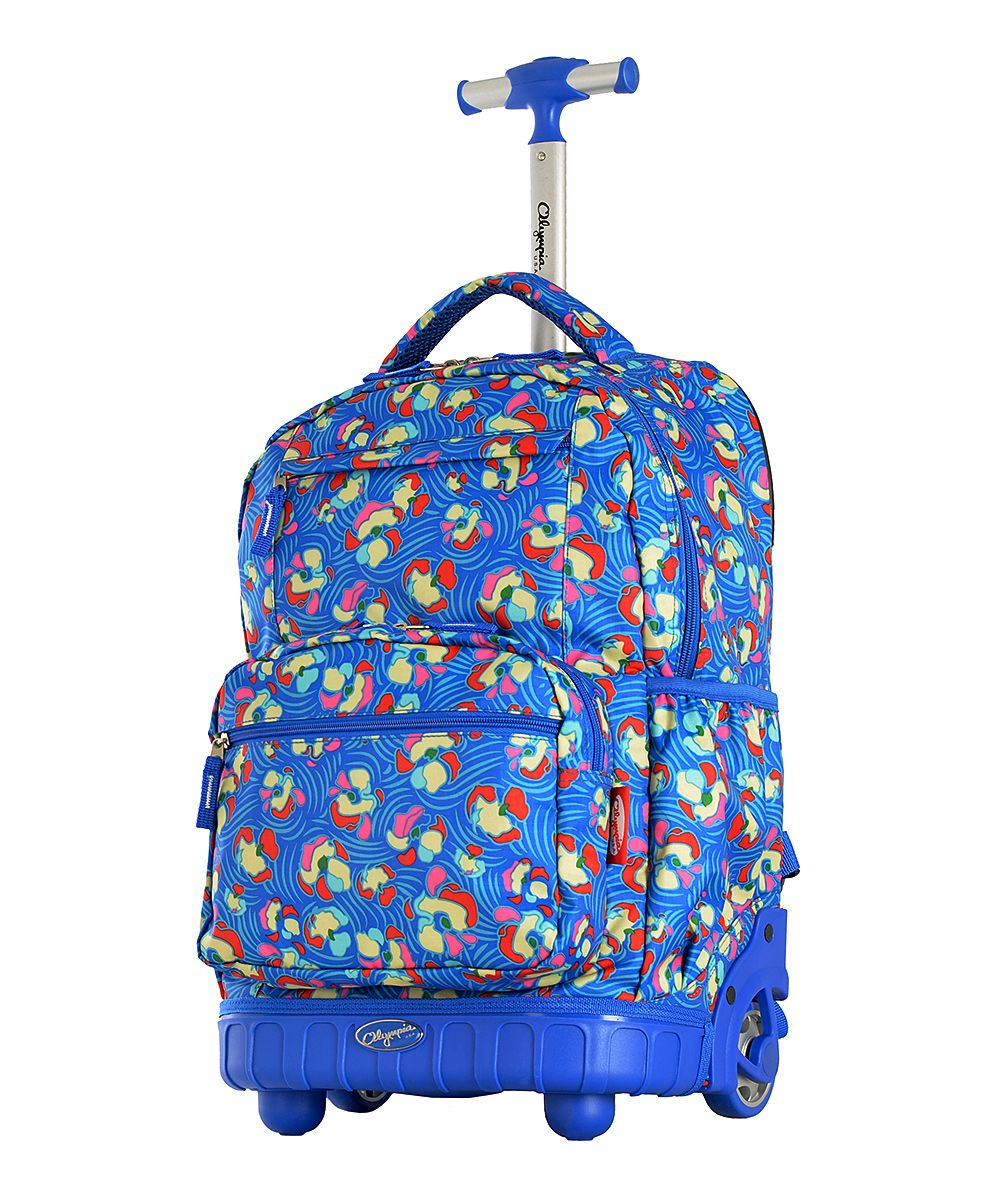 Blue Melody Rolling Backpack